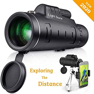 LS Monocular Telescope, 40X60 High Power HD Monocular with Smartphone Holder & Tripod for Hiking, Fishing, Hunting, Bird W...