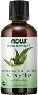 NOW Essential Oils, Organic Eucalyptus Globulus Oil, Clarifying Aromatherapy Scent, Steam Distilled, 100% Pure, Vegan, Chi...