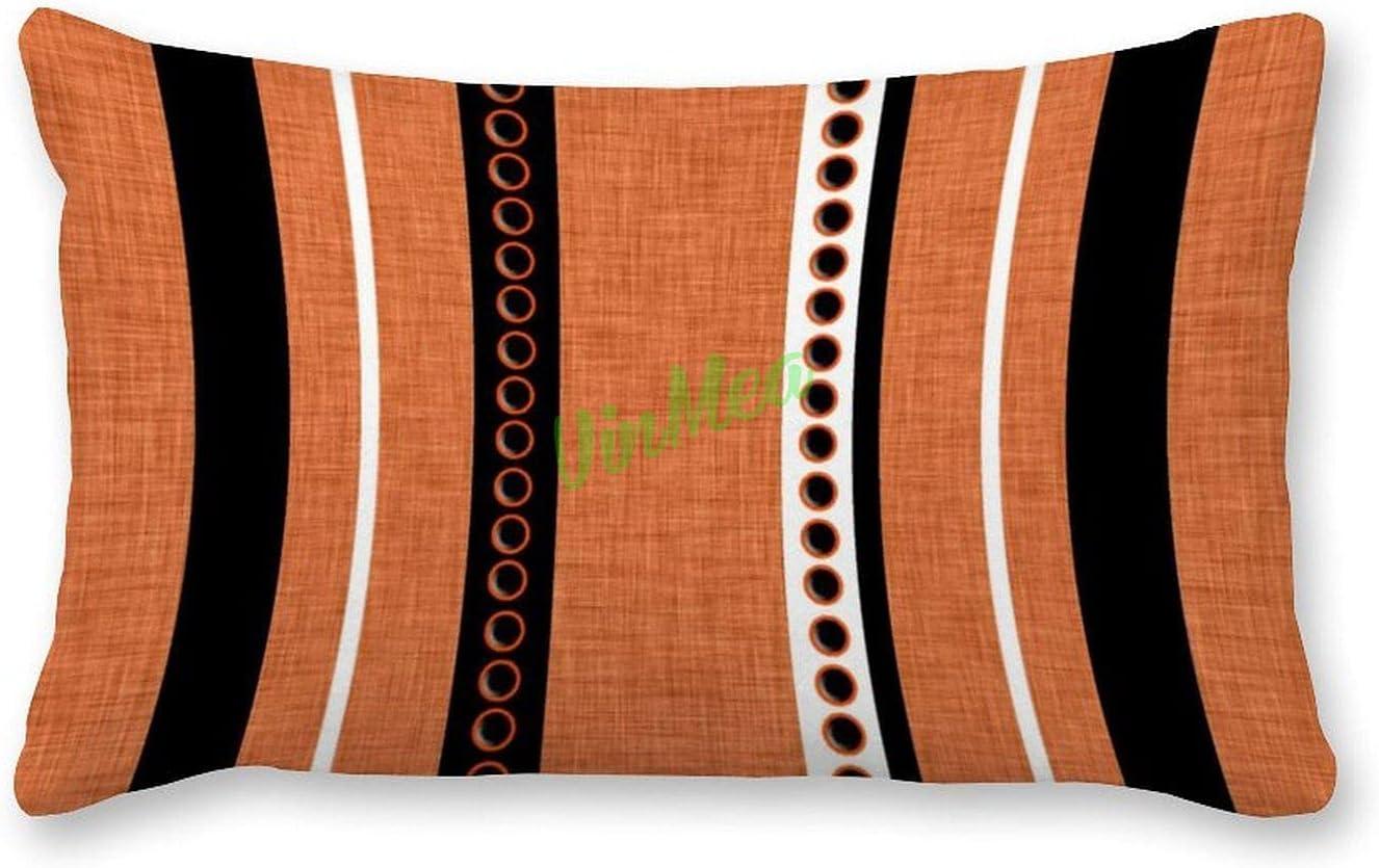 VinMea Decorative Lumbar Pillow Covers Outdoor Stripes Orange Bombing new work Choice Bl