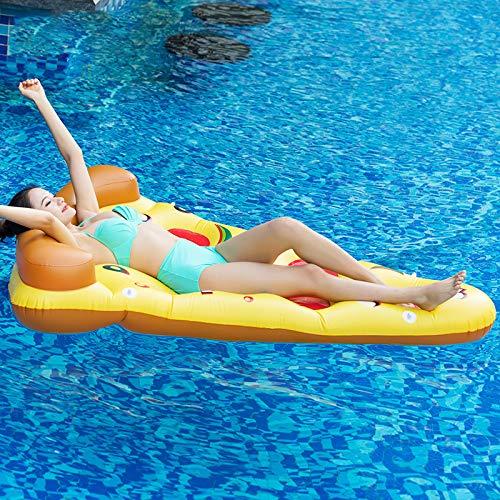 Pizza Opblaasbaar Water Hangmat Ligbed Float Rafts Zwembad Lichtgewicht Drijfstoel Compact En Draagbaar Voor Volwassenen En Kinderen Strandfauteuil Voor Zomer Zwembadfeest