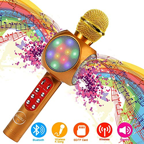 DIVADIS Micrófono Karaoke Bluetooth Inalámbrico