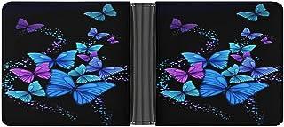 Butterfly POWR - Cartera de piel sintética para hombre, diseño minimalista