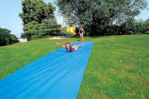 Sport-Thieme Wasserrutschbahn für Kinder u. Erwachsene im Garten | L: 6m, B: 1,10 m | Premium Qualität aus reißfester, strapazierfähiger Folie (1mm) | Anschluss für Gartenschlauch zur Berieselung 1/2