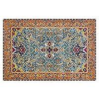 モロッコの国の長方形の床のカーペット、リビングルームの寝室のベッドサイドのコーヒーテーブルの滑り止めエリアの敷物 (Color : B, サイズ : 80cm*160cm)