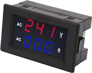 Amperímetro CA, voltímetro digital prático, medidor duplo multifuncional, voltímetro, com um transformador de alta precisã...