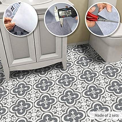 Alwayspon Vinyl Floor Wall Tiles Floor Sticker Waterproof Non Slip Splashback Tiles Decal For Kitchen Bathroom Self Adhesive Peel And Stick Pvc Wall Sticker Diy Home Decor Moroccan Tile 60x120cm Amazon Co Uk Home