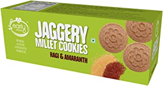 Early Foods Ragi Amaranth Jaggery Cookies Ms, 150 g