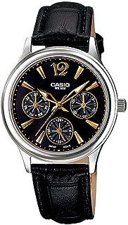 ساعة يد نسائية من كاسيو ، انالوج بعقارب ، جلد ، اسود ، LTP-2085L-1AV