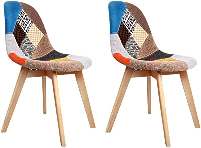 Artiss Fabric Eames Dining Chairs Set of 2