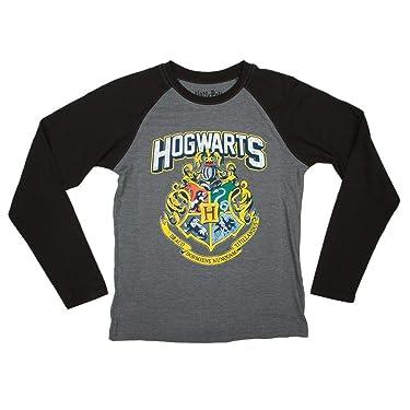 Harry Potter Hogwarts Distressed Boys Youth Raglan Shirt Licensed