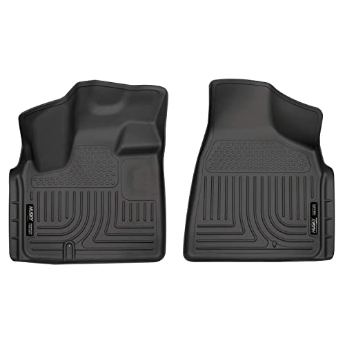SMARTLINER Floor Mats 2 Row Liner Set Black for 2008-2018 Dodge Grand Caravan with 2nd Row Bench Seat Chrysler Town /& Country