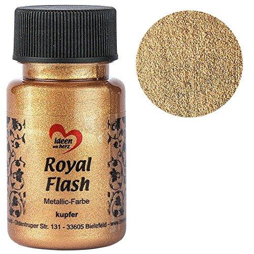 Royal Flash, Acryl-Farbe, metallic, mit feinsten Glitzerpartikeln, 50 ml (kupfer)