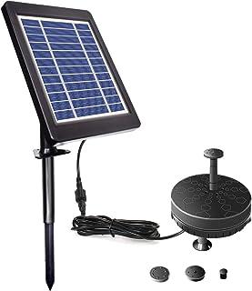Lewisia 3.5W Battery Solar Fountain Pump with LED Lighting for Pool Koi Goldfish Pond Garden Bird Bath Submersible Solar W...