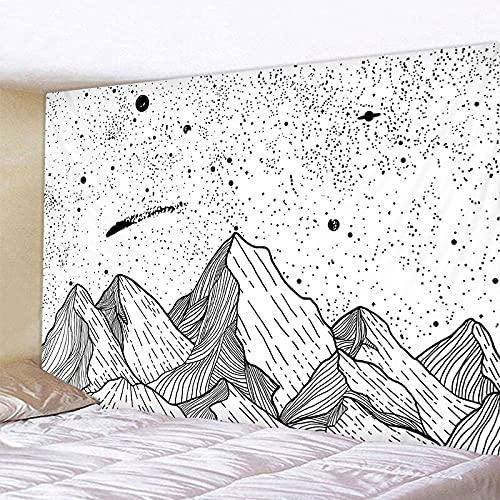 Patrón de luna y estrellas tapiz decoración del hogar sala de estar dormitorio pared dormitorio fondo tapiz impreso manta A1 100x150cm