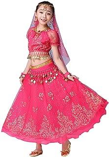 Girls Belly Dance Dress Bollywood Indian Folk Kids Arabian Performance Costume Carnival Outfit
