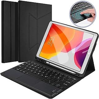 comprar comparacion �Con Touchpad】Funda Teclado Tablet para iPad 10.2 2019, Diseño español,Elegante Magnética Delgada con Soporte para Lápiz I...