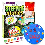 Made By Me Mix & Mold Your Own Stepping Stones by Horizon Group USA, Make 4 DIY Personalized Stepping Stones, Molding Tray,Decorative Gemstones,Paint Pots,Paint Brush,Gloves & Sticker Sheet Included