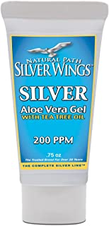 Natural Path Silver Wings Silver Aloe Gel with Tea Tree Oil, 0.75 Fluid Ounce