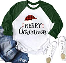 Franterd Large Size Tops Women Family Merry Christmas Alphabet Print Splicing Loose Blouse Pullover