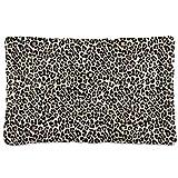 Dog Bed Mat Modern Leopard Pattern Crate Pad Mattress Cushion for Puppy Cat Kitten,Pet Sleeping Kennel Mat,Machine Washable and Dryer Friendly,18' x 24'