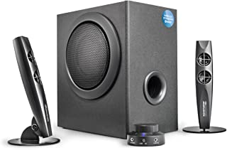 Wavemaster STAX BT - 2.1 Sístema de Altavoces Activos (46 Vatios) con Bluetooth - Ideal para el Uso con TV/Tableta/Smartphone/PC, Color Negro (66211)