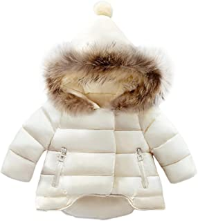 CYNDIE Baby Boys Girls Fashion Comfortable Snowsuit Winter Warm Soft Collar Hooded Windproof Jacket Outerwear
