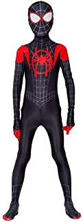 Kids Spiderman Costume New Spider-Man Into The Spider-Verse Miles Morales Cosplay Costume Zentai Suit Halloween Costume Fo...