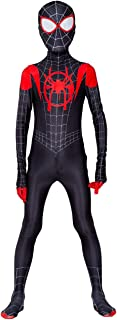Kids Spiderman Costume New Spider-Man Into The Spider-Verse Miles Morales Cosplay Costume Zentai Suit Halloween Costume For Kids