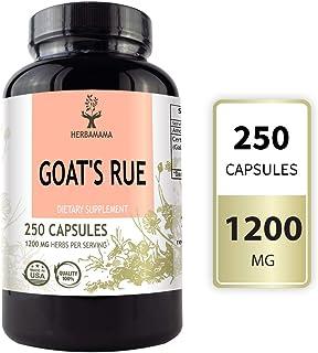 HERBAMAMA Goat's Rue Capsules - Galega Officinalis Nutritional Supplement - 1200 mg, 250 Capsules - Promotes Milk Flow, La...