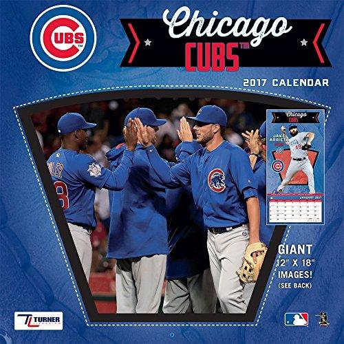 "Turner Licensing Sport 2017 Chicago Cubs Team Wall Calendar, 12""X12"" (17998011844)"