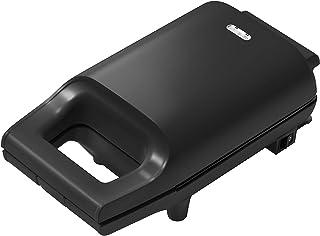 [山善] 具だくさん 耳付きで焼ける ホットサンドメーカー 一人暮らし 新生活 ブラック YSB-S420(B) [メーカー保証1年]