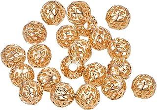 BENECREAT 30 PCS Placcato 18K Oro Reale Perline per Gioielli Artigianali Fai da Te Accessori Perline Lunghe in Ottone Colo...