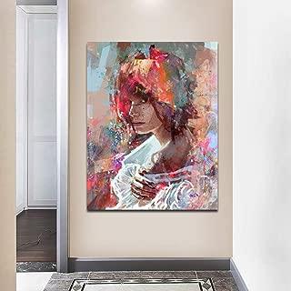 yhyxll Pintura Abstracta de la Lona Pintura Impresa Moderna Arte de la Pared Imágenes Arte gráfico Decoración del hogar para la Sala de Estar Carteles B 60x90cm