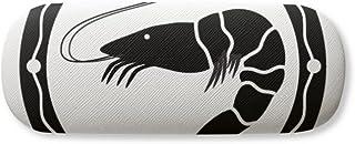 Black Marine Life Shrimp Illustration Gl Case Eyegl Hard Shell Storage Spectacle Box