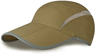 MerryJuly Quick Dry Sun Hats UPF50+ Portable Sports Outdoor Baseball Cap with Foldable Long Bill