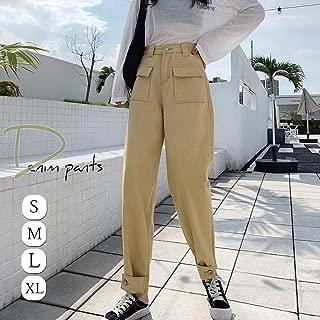 ファストファッション ボーイフレンド デニムパンツ ゆったり レディース デニム カジュアル ボトムス ポケット