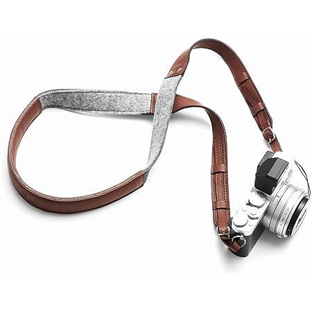 Woolnut Camera Strap - Cognac Brown