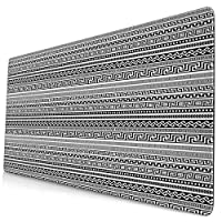KIMDFACE 大型 マウスパッド 古いギリシャの国境伝統的な新古典主義の幾何学的および古代のデザイン 個性的 おしゃれ 柔軟 かわいい ゲーミングマウスパッド PC ノートパソコン オフィス用 デスクマット 滑り止め 特大 マウスマット