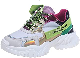 Dames Dikke schoenen Mode Platform Veterschoen Ademende sneakers Dik platform Antislip Outdoor Casual Joggingschoenen