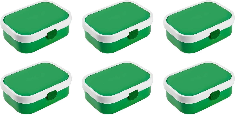 Mepal 107440092600 Campus Brotdose mit Bento-Einsatz, 17,8 x 13,2 13,2 13,2 x 6,1 cm, grün (6 Stück) B07HHF37CH 13efd4