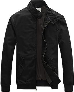 WenVen Men`s Causal Cotton Bomber Jacket Classic Outerwear Coat