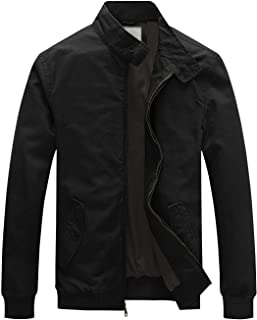 Men's Causal Cotton Bomber Jacket Classic Outerwear Coat