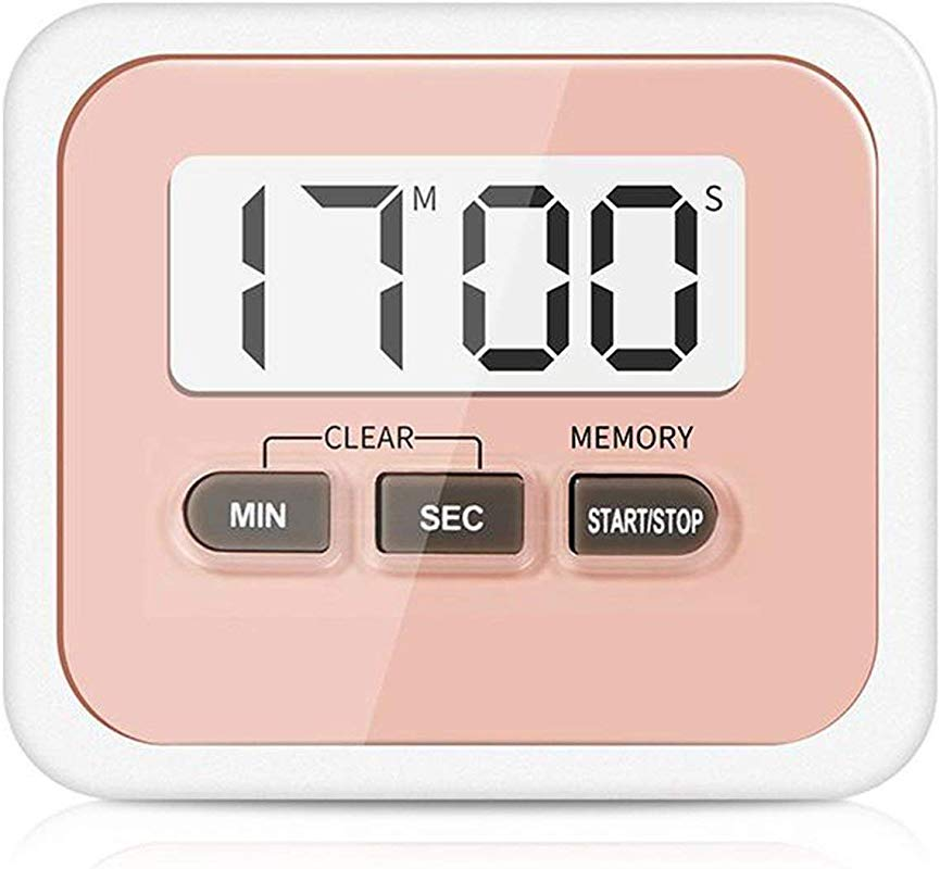 Liobaba Digital LCD Cooking Timer Digital Large LCD Display Home Kitchen Timer Electronic Kitchen Cooking Timer Stopwatch Cooking Tools
