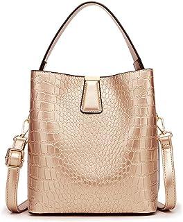 ZHINTE Handtaschen Umhängetaschen Umhängetaschen für Damen Mädchen Handtaschen Damen Eimer Schultergeldbörsen PU Leder