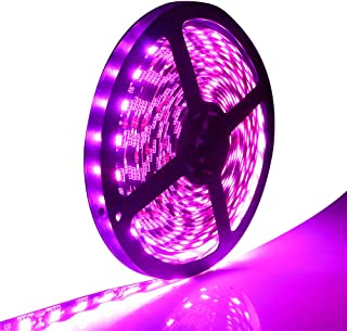 EverBright Led Strip Lights, Pink 16.4Ft 5050 SMD 300 LED Waterproof Flexible Led Light Strips PCB Black for Car Truck Neon Undercar Lighting Kits Mall Booth House Decoration Stage Music Colorful