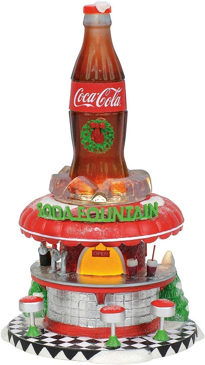 Department56 Department 56 Coca Cola Soda Fountain Porcelain Collectible Figurines (6002293)