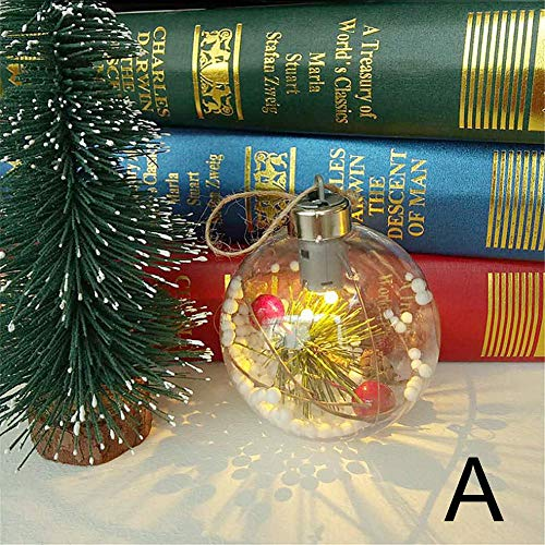 Bolas de Navidad con LED para decoración árbol navidad Tree Ball bolas enganche decoración fiesta ornamentos...