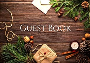 Guest Book: Christmas Guest Book, Message Log Keepsake Notebook, 96 Pages - coolthings.us
