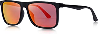 MERRY'S Men Polarized Square Sunglasses Aluminum Legs 100% UV Protection S8250