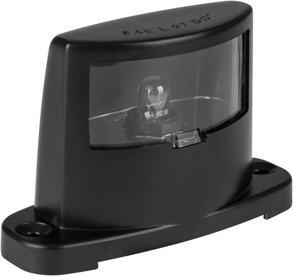 Lumitronics License Plate Lamp Over item handling ☆ - Body Construction Black Ranking TOP1 ABS